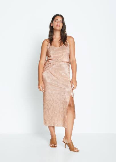 Металлизированная асимметричная юбка - Iris-i