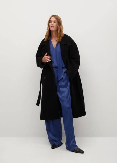Атласные брюки с защипами - Satin-a