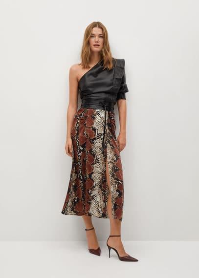 Миди-юбка с принтом - Serp
