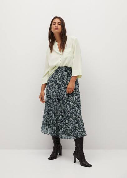 Плиссированная юбка с цветочным принтом - Paradis