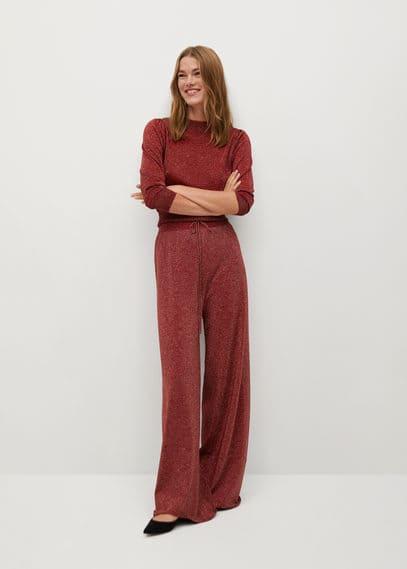 Блестящие брюки из трикотажа - Sabrina