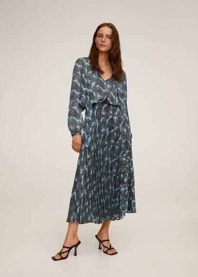 Плиссированная юбка с притом  - Deno