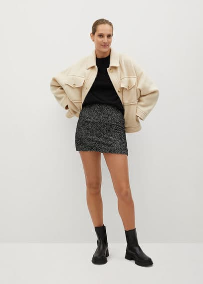 Фактурная мини-юбка - Naomi