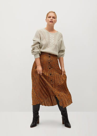 Плиссированная юбка с пуговицами - Pantera