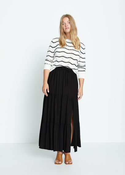 Длинная юбка с разрезом - Summer