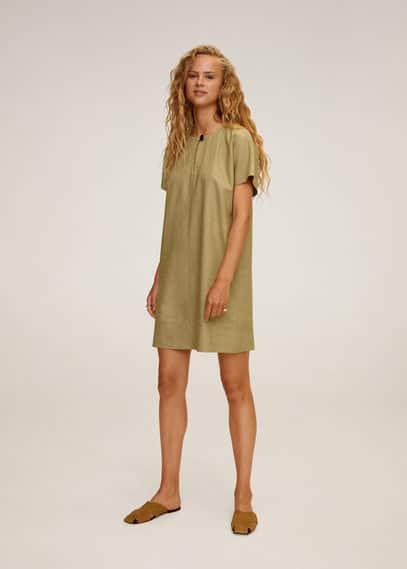 Платье-рубашка хлопок и лен - Candel-h