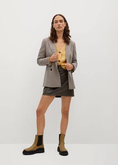 Мини-юбка из искусственной кожи - Simple
