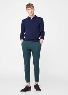 Chino slim-fit texturé - f pouChinos Homme | MANGO Man France