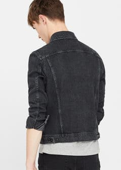 Black denim jacket - Woman | MANGO United Kingdom