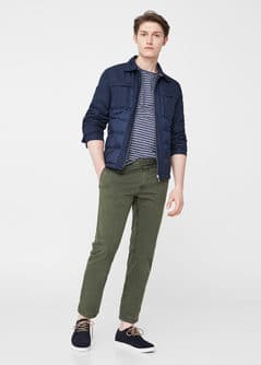 Pantalon chino slim-fit garment-dyed - f pouChinos Homme | MANGO Man France