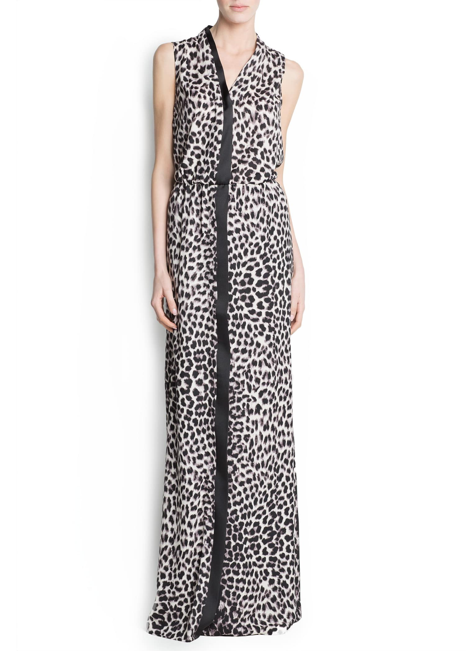 Leopard Print Crossed Crossed Leopard Print Gown Gown by7g6f