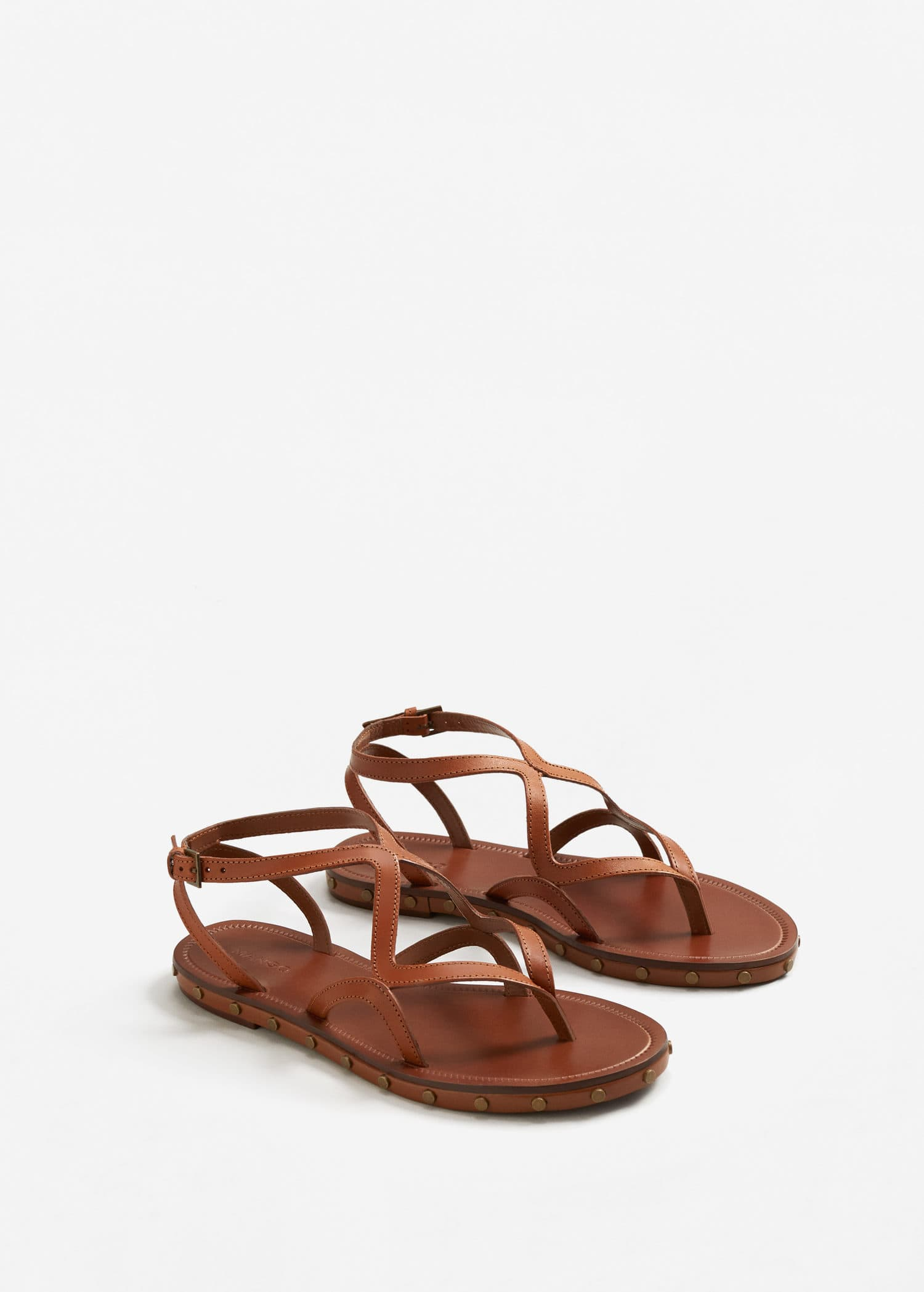 Sandals WomanMango Straps Straps Leather Sandals WomanMango Jordan Leather Jordan Leather bfI7yvm6gY