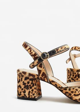 7d959f2e0abd Leather leopard shoes - Woman | Mango Netherlands