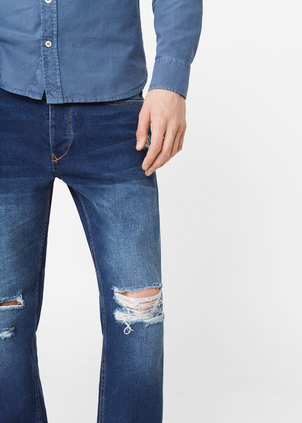 Cropped Slim Fit Ethan Jeans Men Outlet Usa
