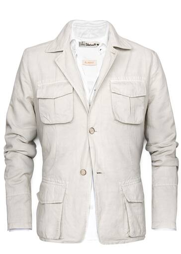 Linen Cotton Blend Safari Jacket Men Mango Man United Kingdom