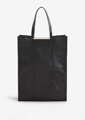 86960b88e06d1 Xxl leather shopper bag - Woman