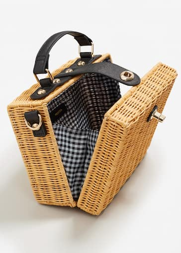 Bamboo Basket Bag Women Mango Usa