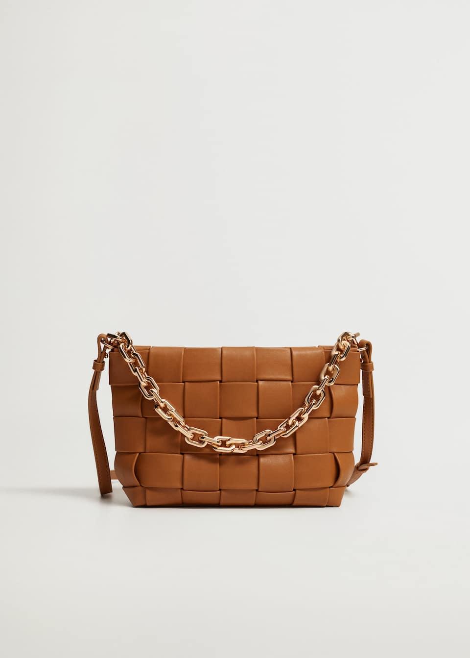 Chain braided bag - mango