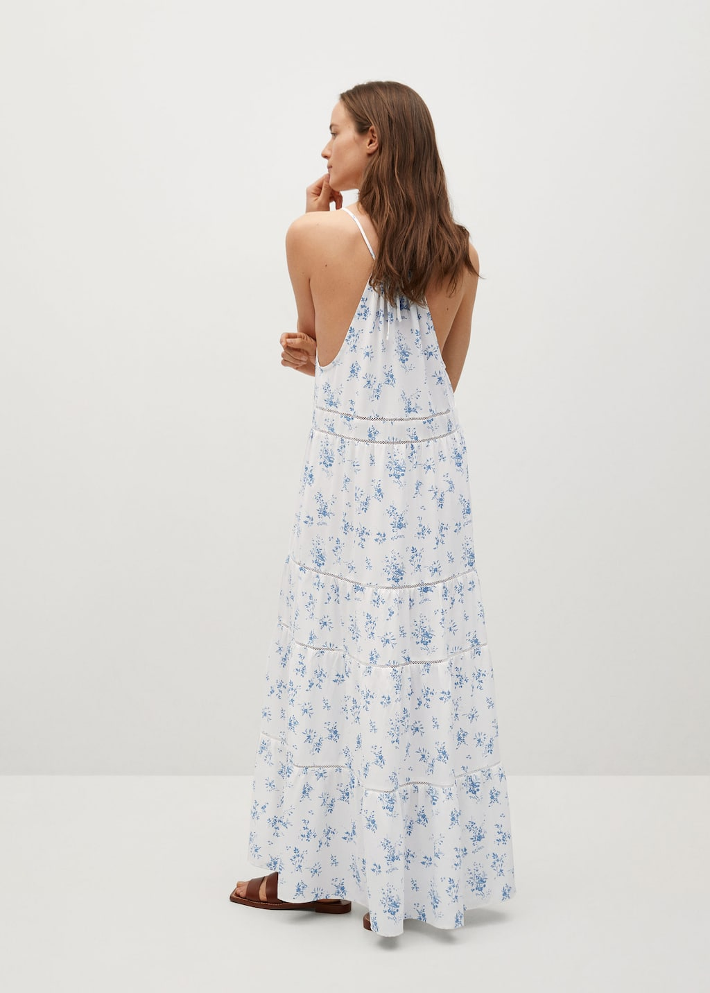 Embossed Flower Gown Woman Mango China