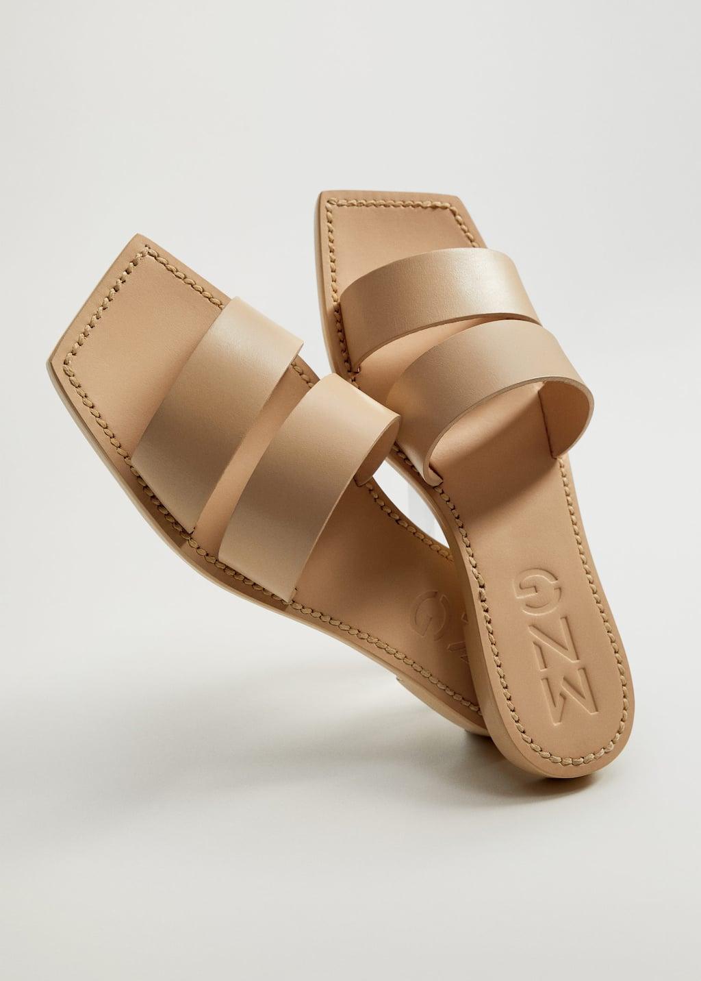 Leather straps sandals - Medium plane