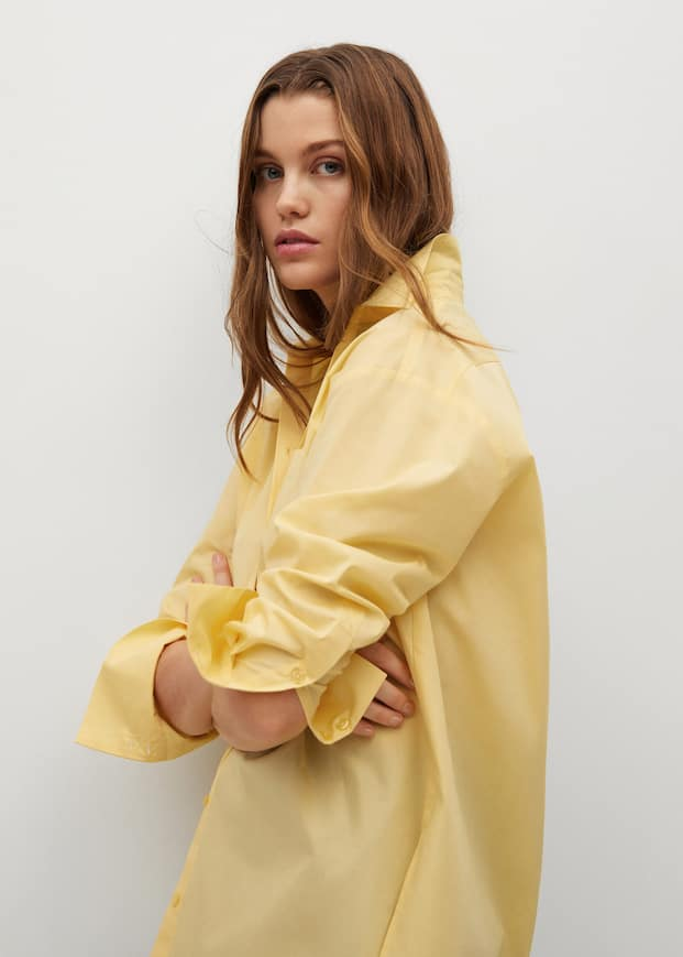 Oversize cotton shirt - Details of the article 3