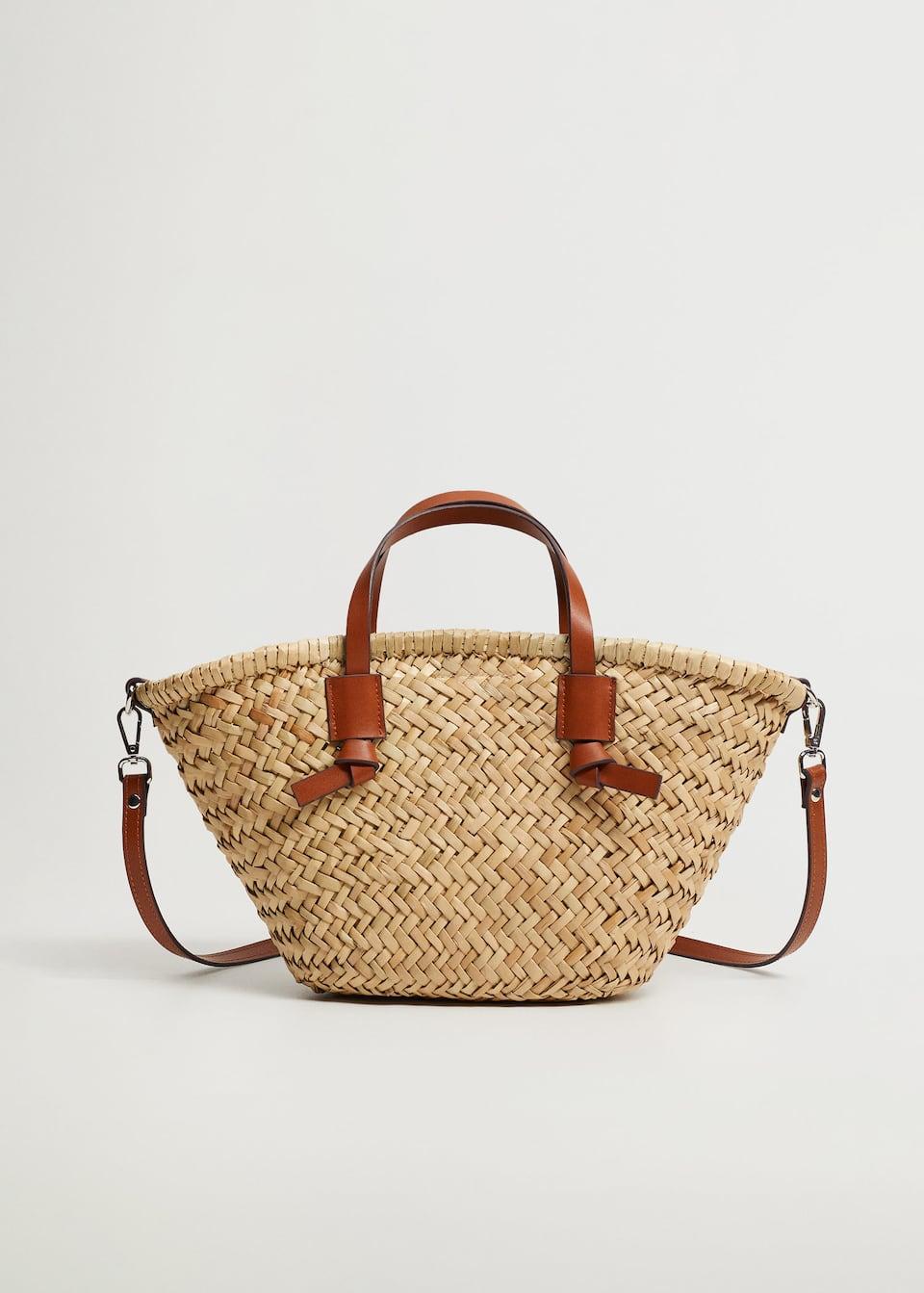 Double strap mini basket bag - Mango