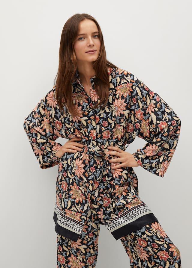Φόρεμα κιμονό φλοράλ - Μεσαίο πλάνο