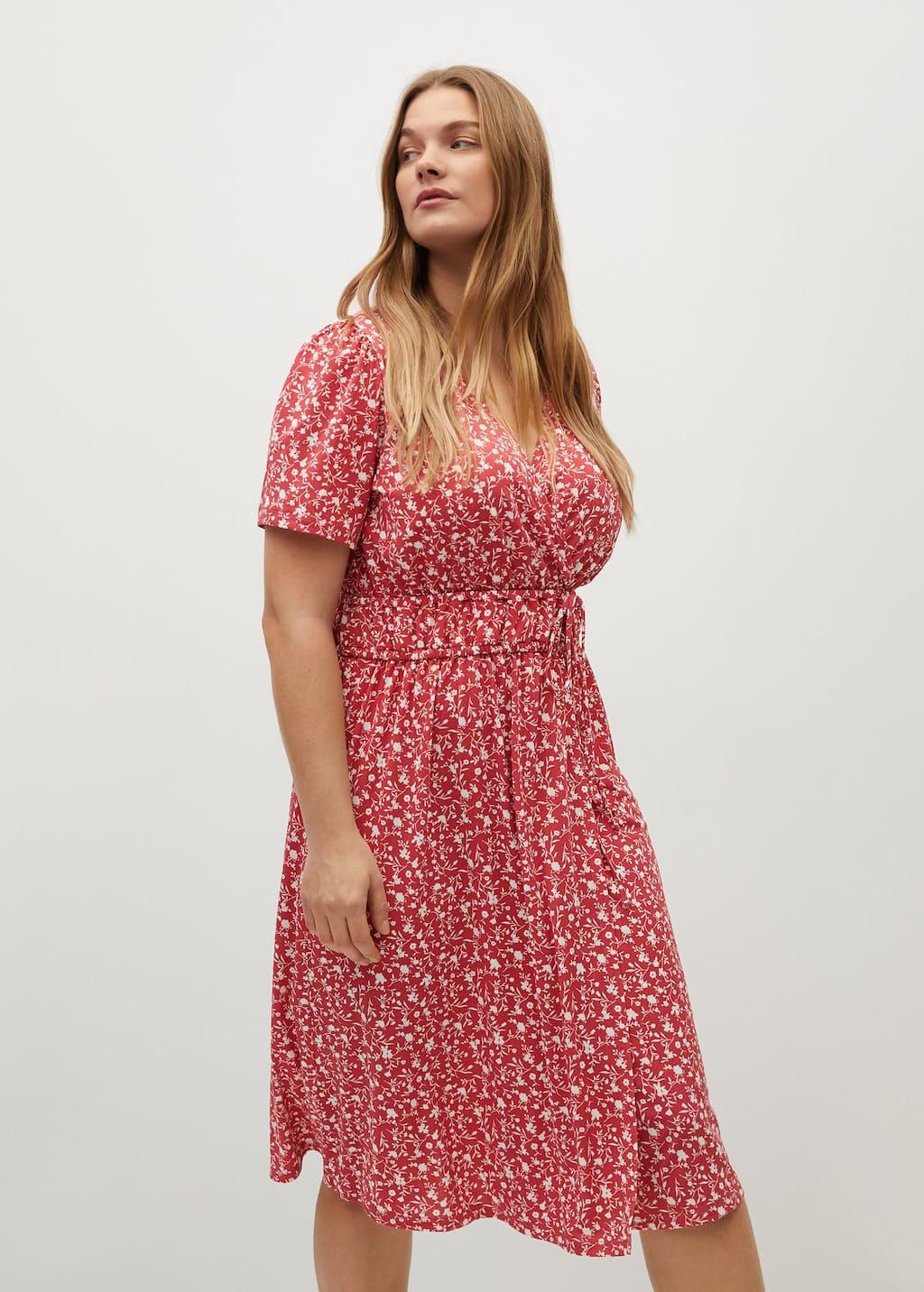 Print wrap dress - Medium plane