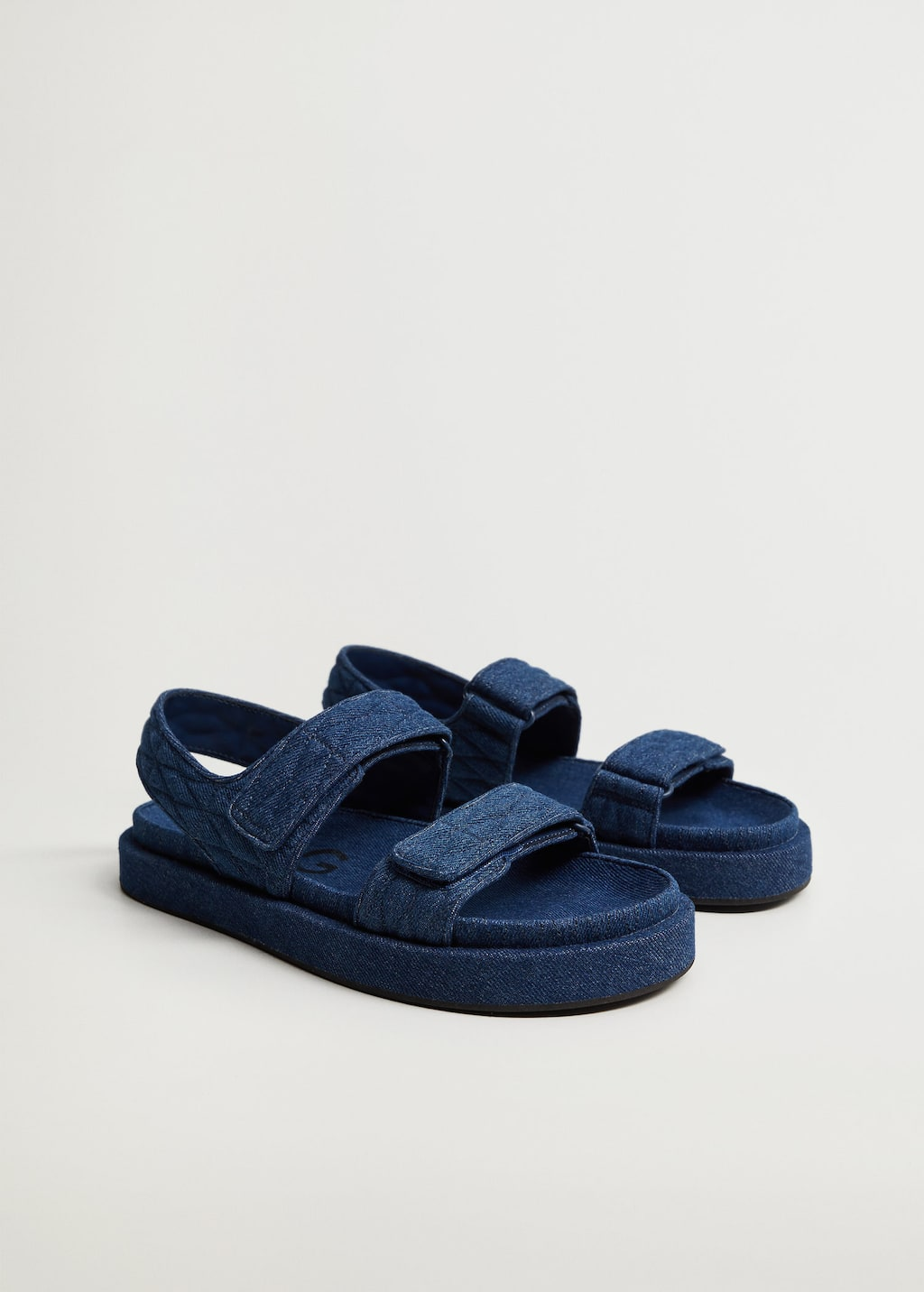 Denim cotton sandals - Medium plane