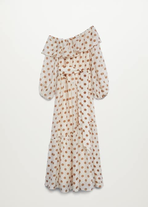 Polka-dot dress with ruffles - Article without model