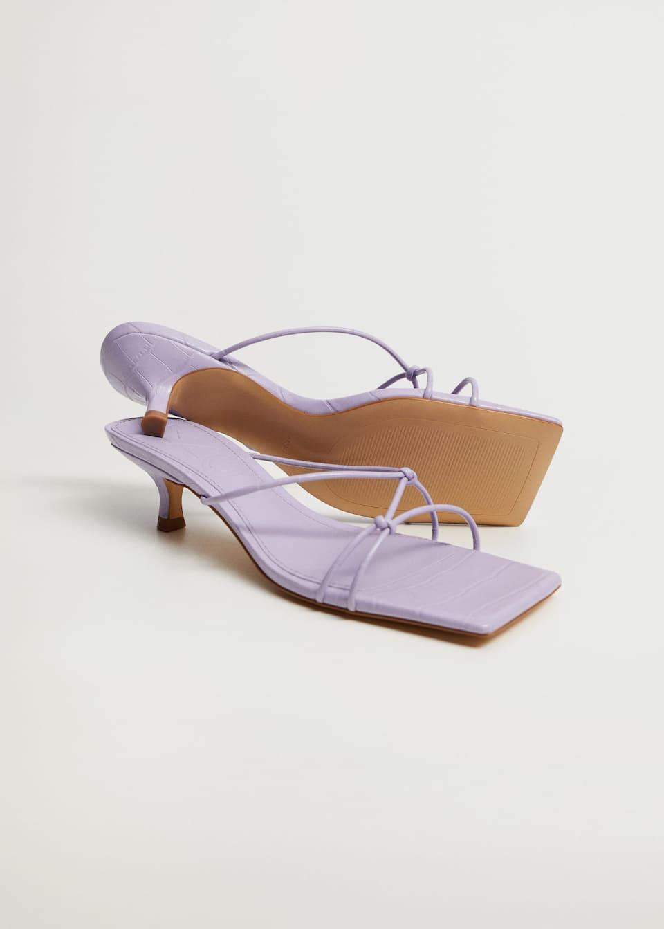 Knots heel sandals - Medium plane