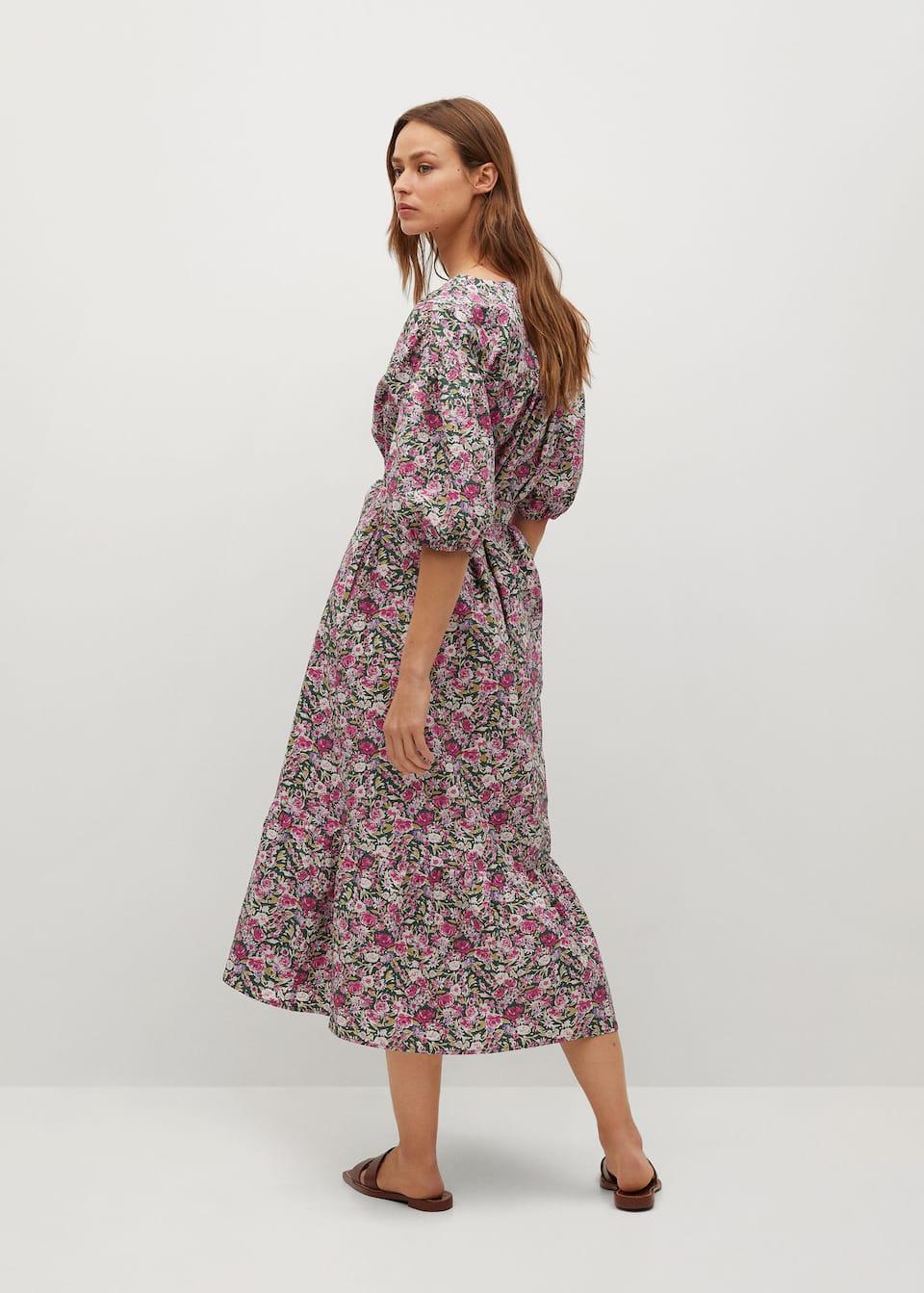 Baumwollkleid Mit Blumenmotiven Damen Mango Deutschland