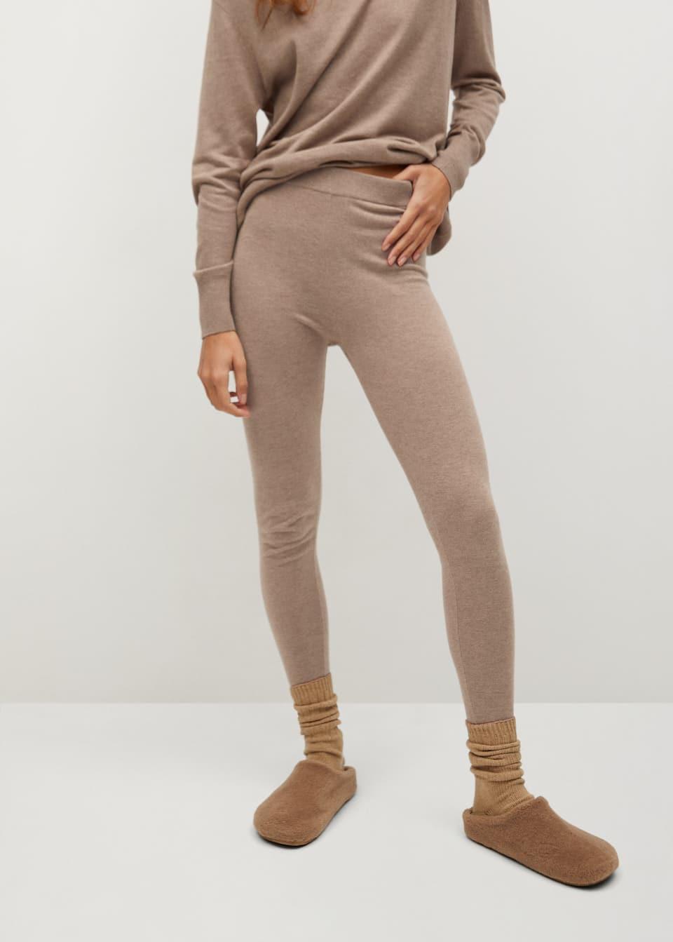 Pantalon Jogger Punto Mujer Mango Espana
