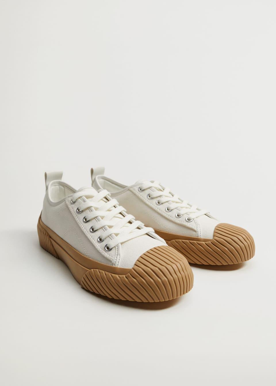 Organic cotton sneakers - Medium plane