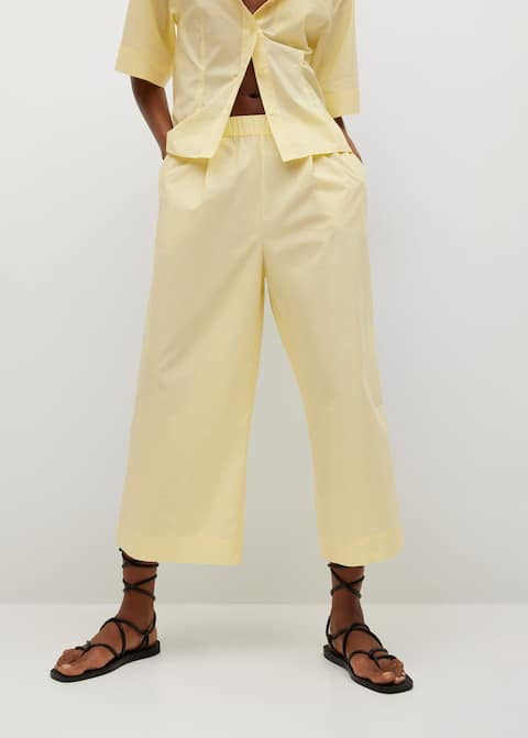 Cotton culotte trousers £29.99