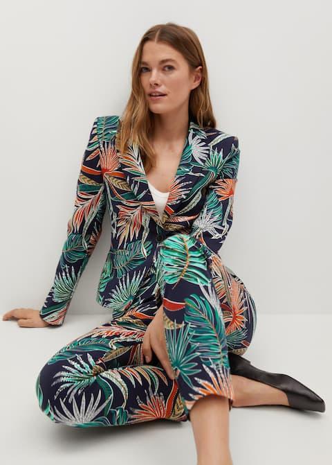 Pantalon imprimé tropical - Détail de l'article 1