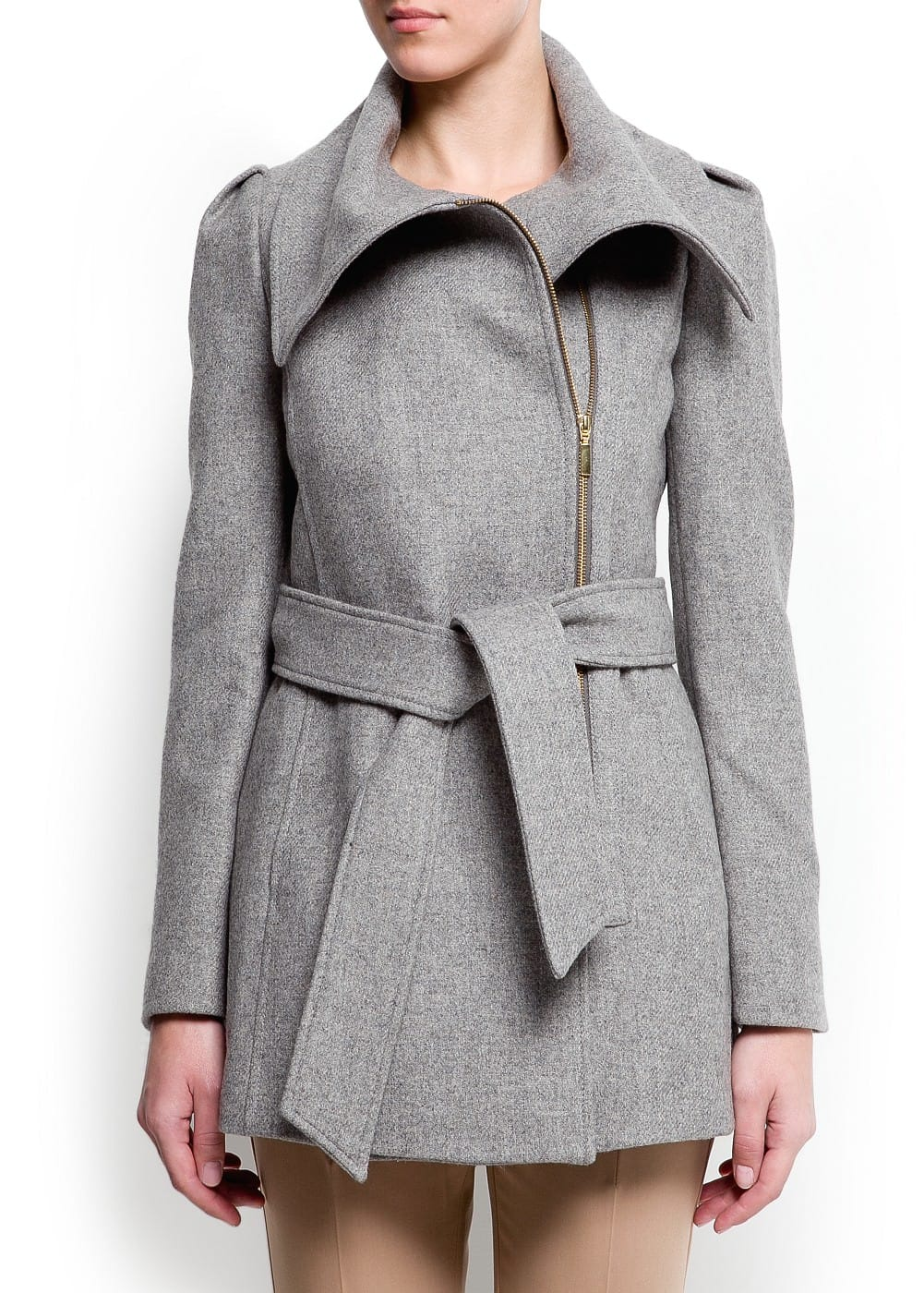 Maxi collar coat | MANGO
