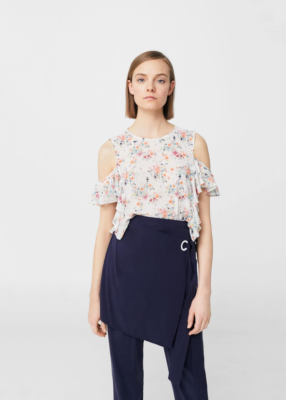 Ruffles floral blouse | MNG
