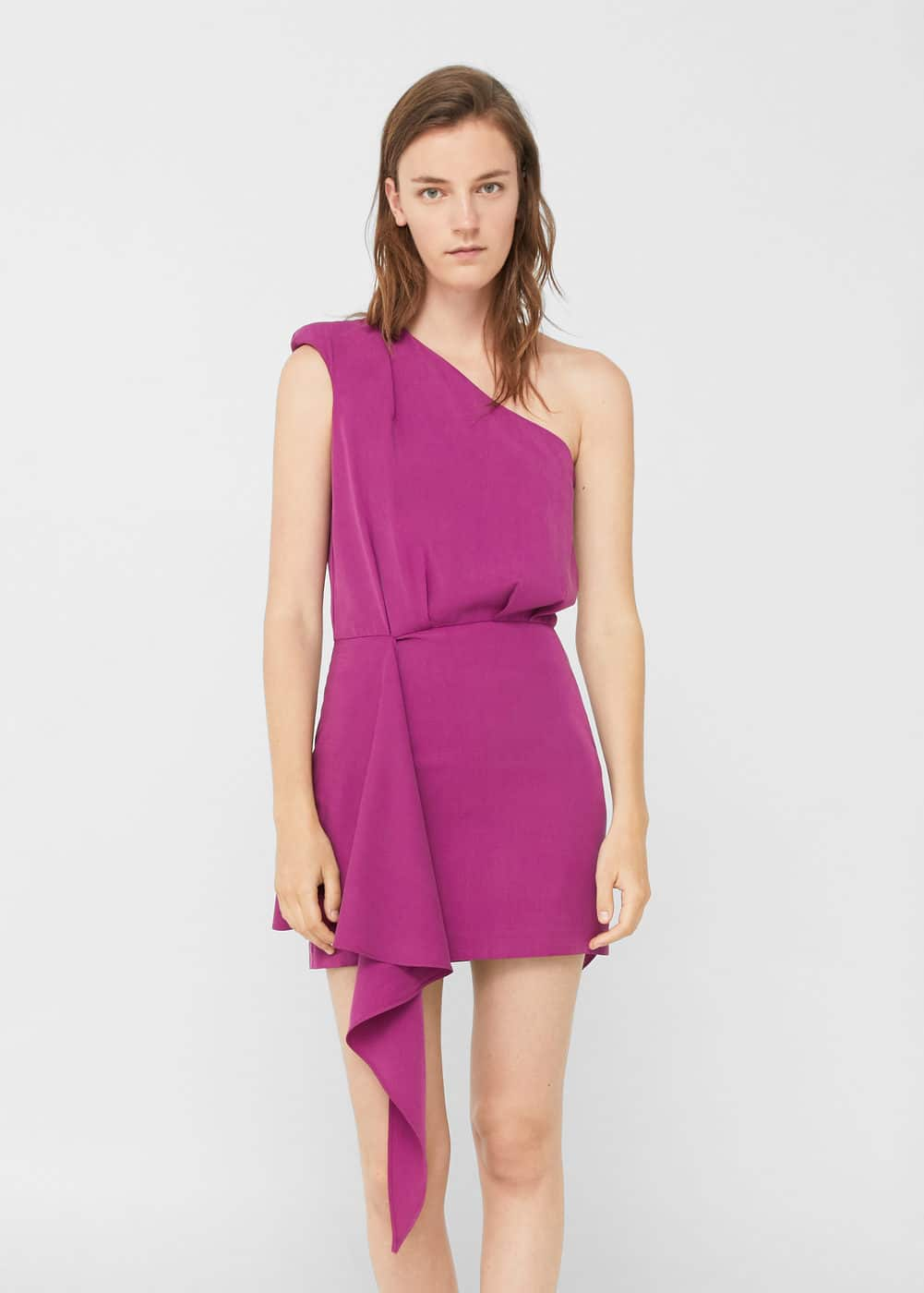 Asymmetric bow dress | MANGO