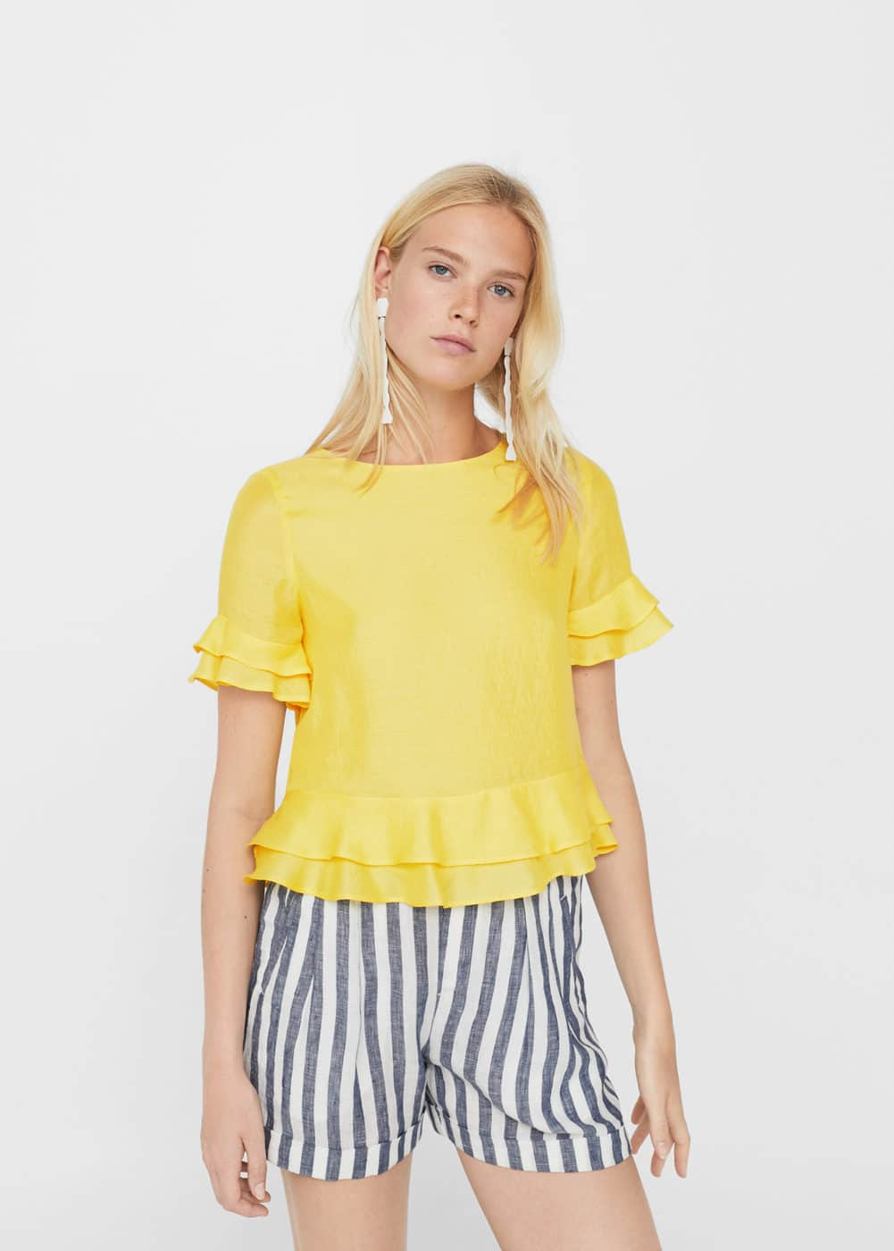 Decorative ruffle blouse | MANGO
