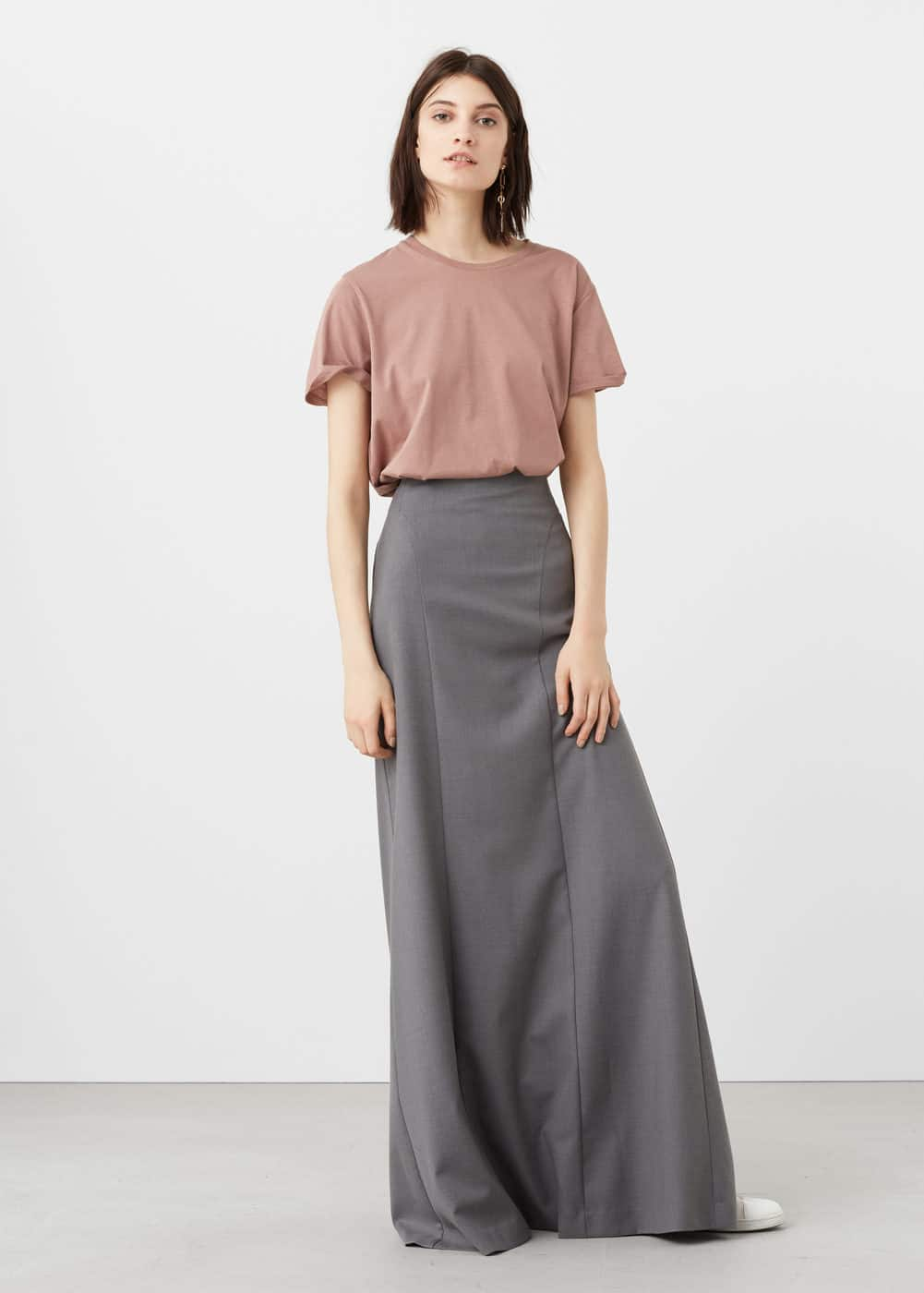 Stretch long skirt | MANGO