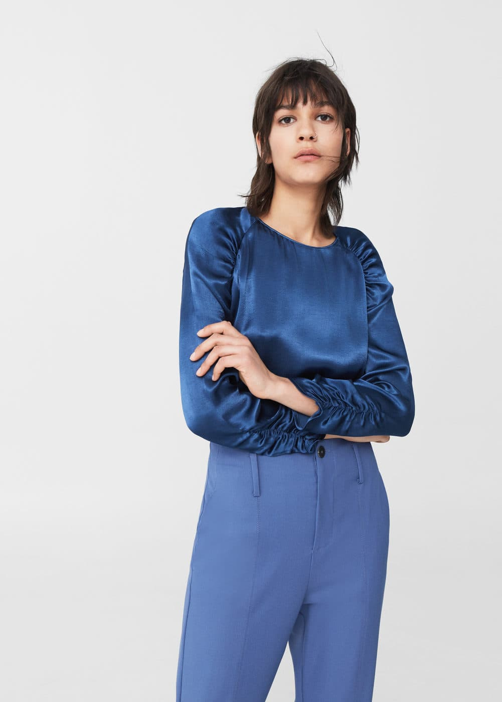 Satin blouse | MNG