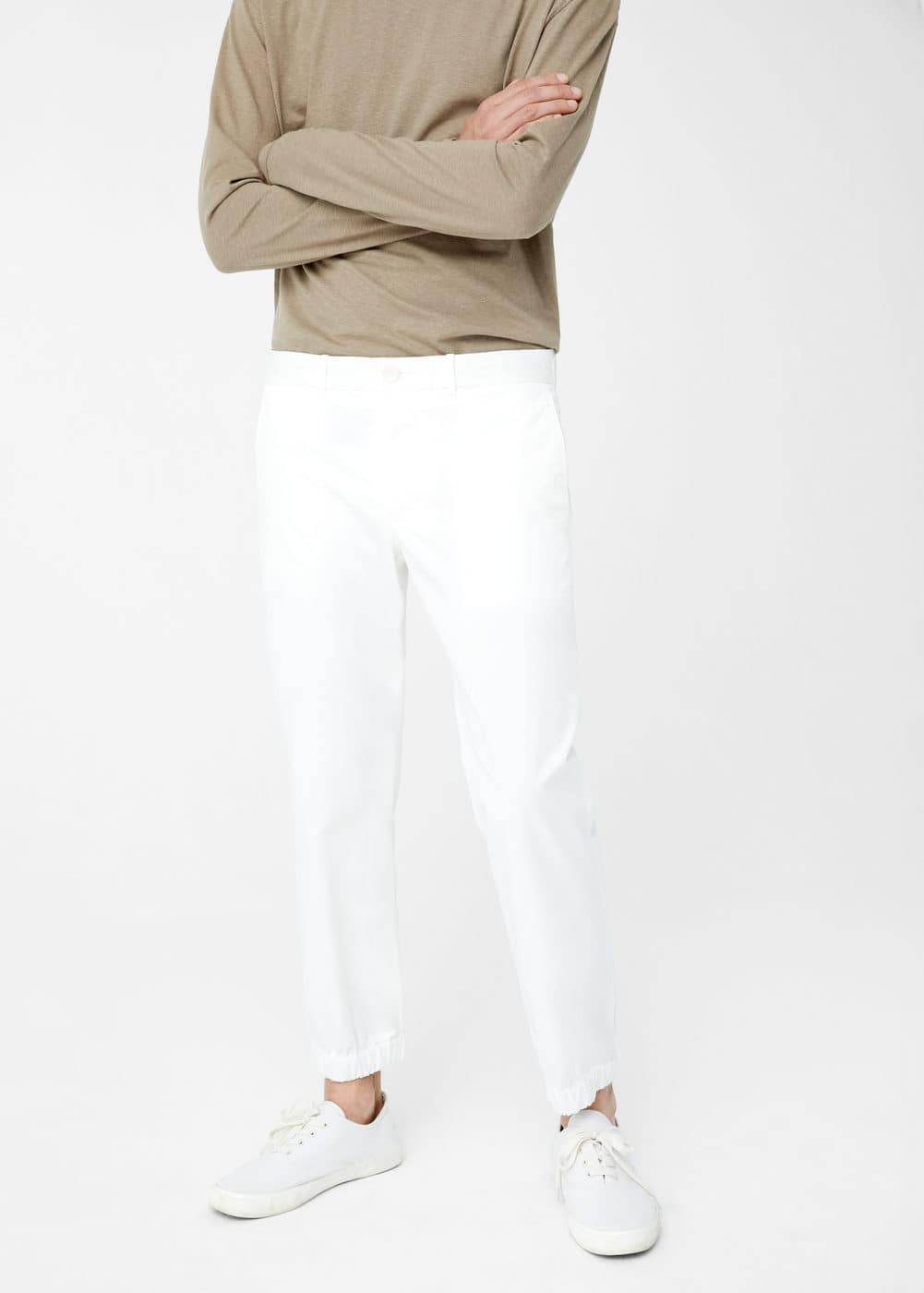 Straight-fit cotton pants | MANGO