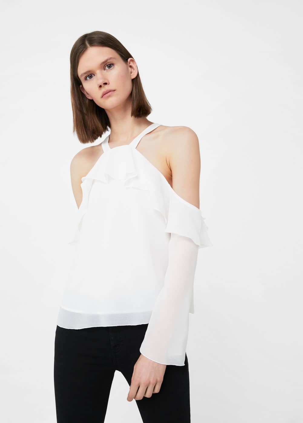 Off shoulders blouse | MANGO