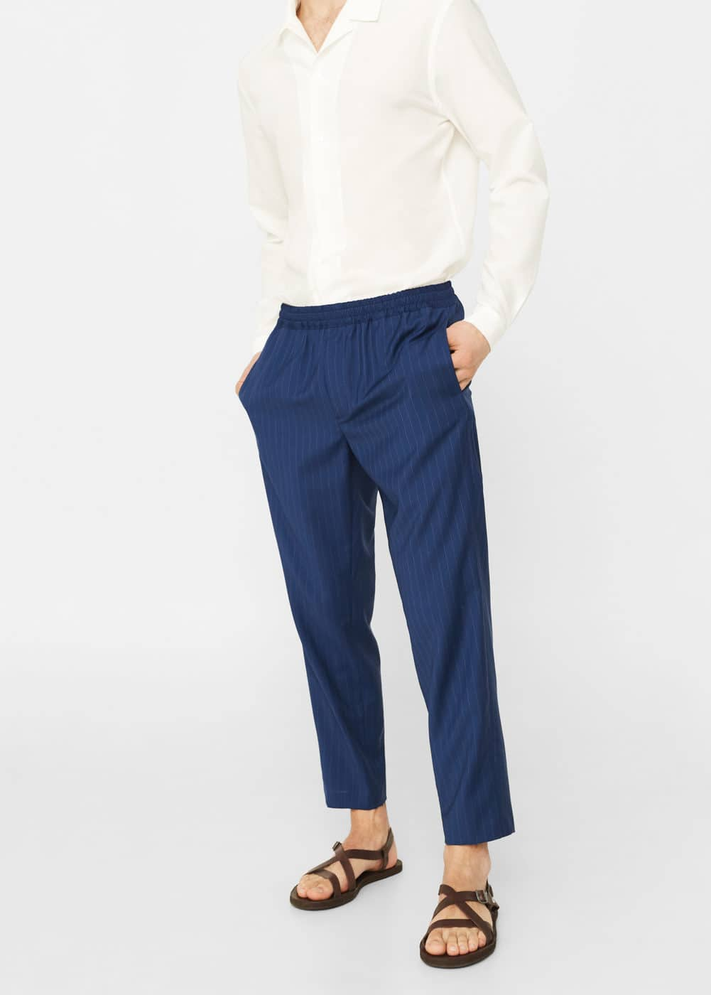 Wool-blend cropped trousers | MANGO