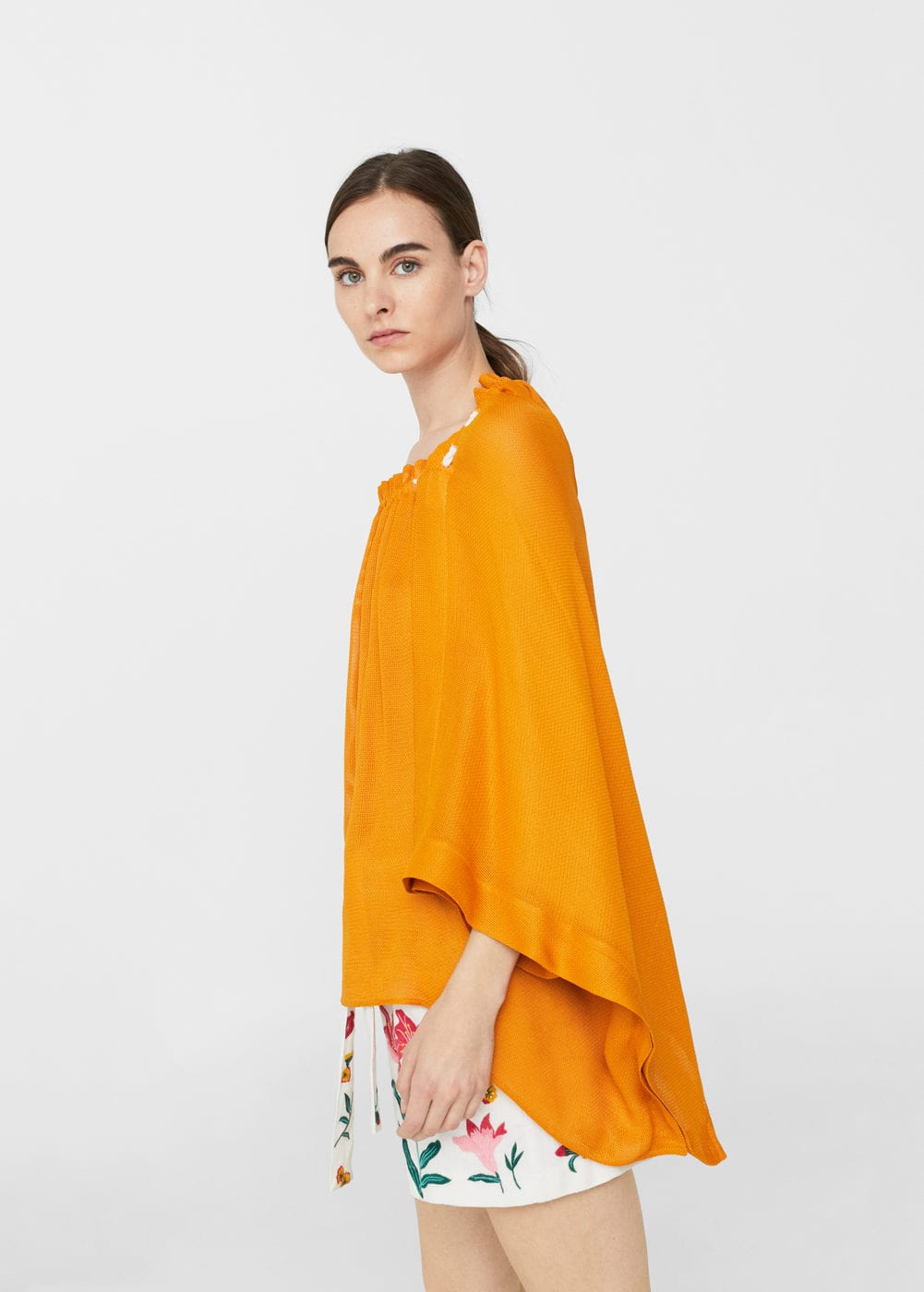 Flowy textured blouse | MANGO