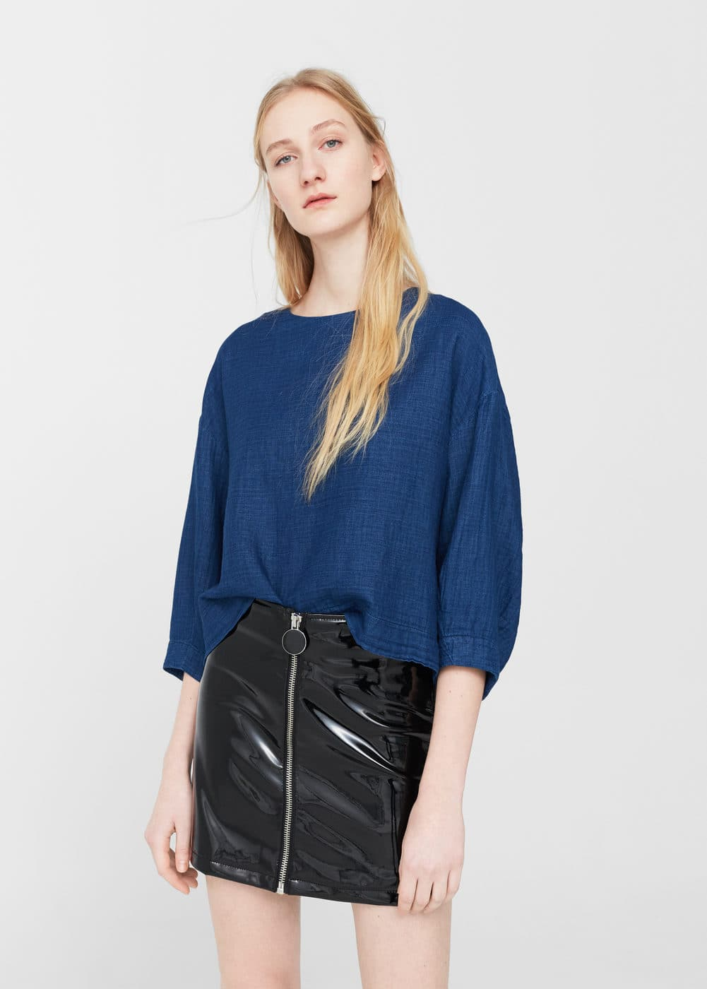 Puffed sleeves blouse | MANGO