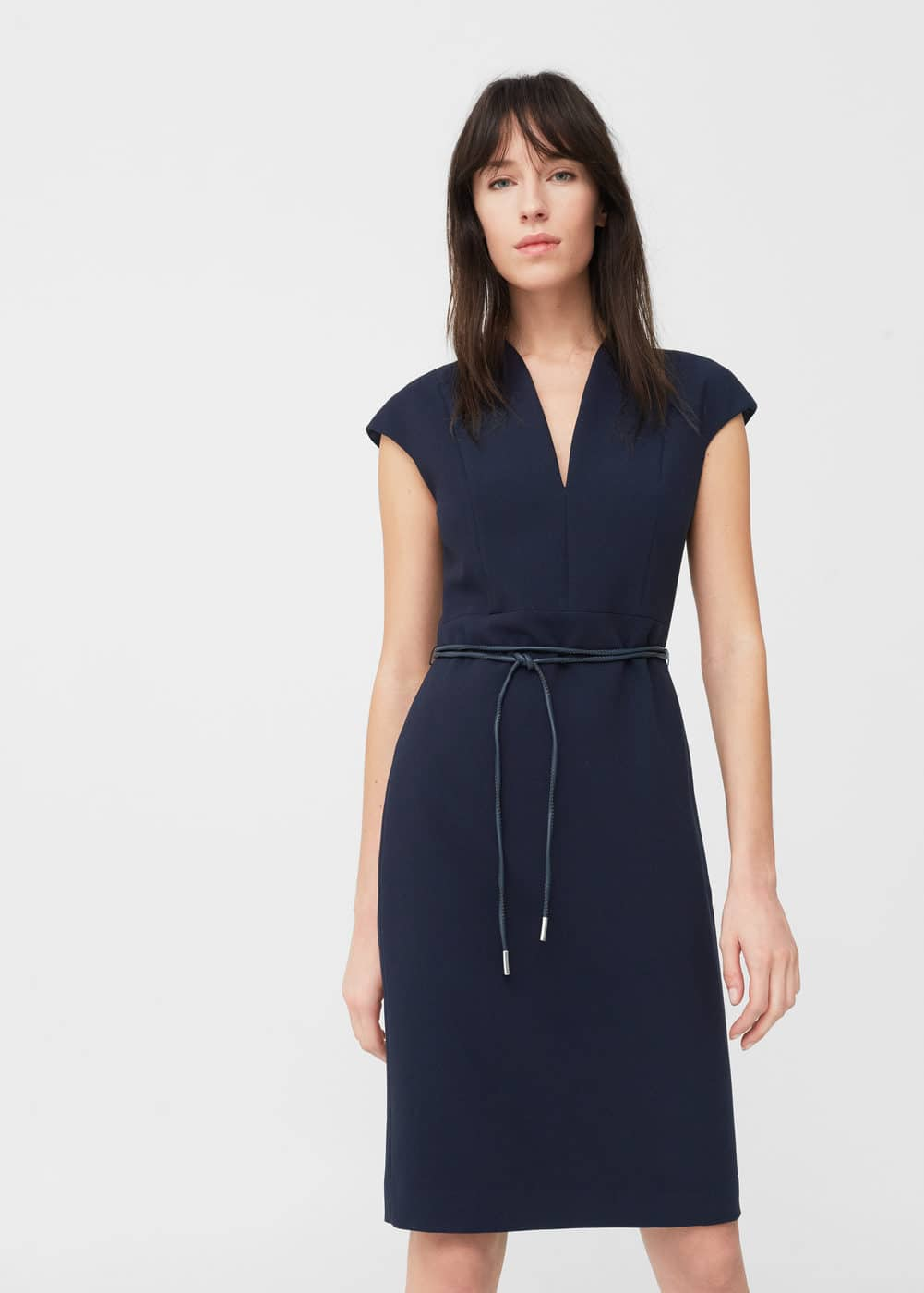 Belted pencil dress | MANGO