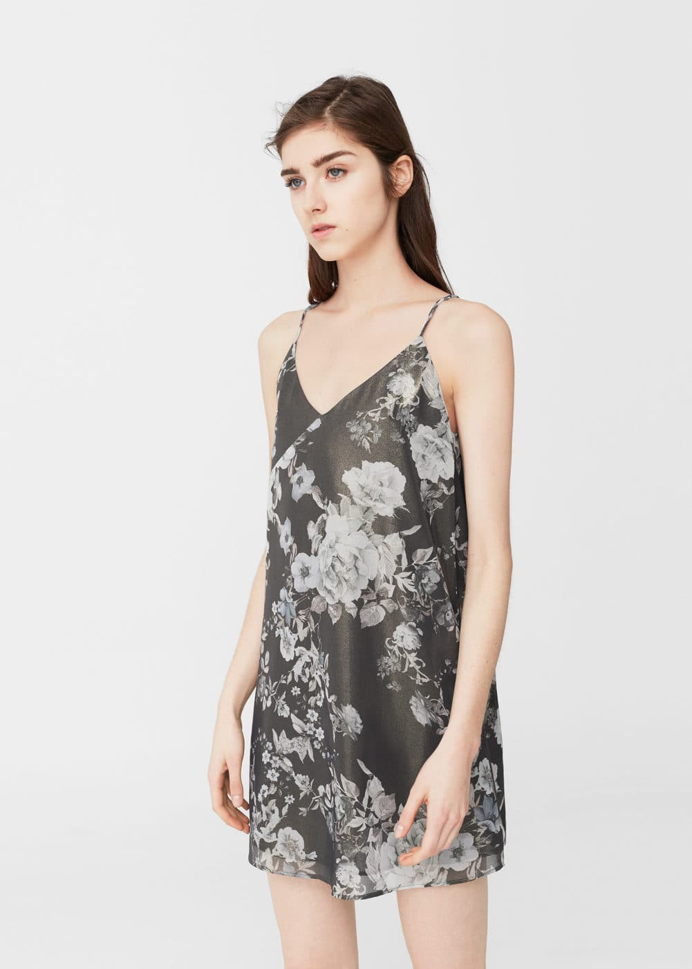 Floral-print flowy dress | MANGO