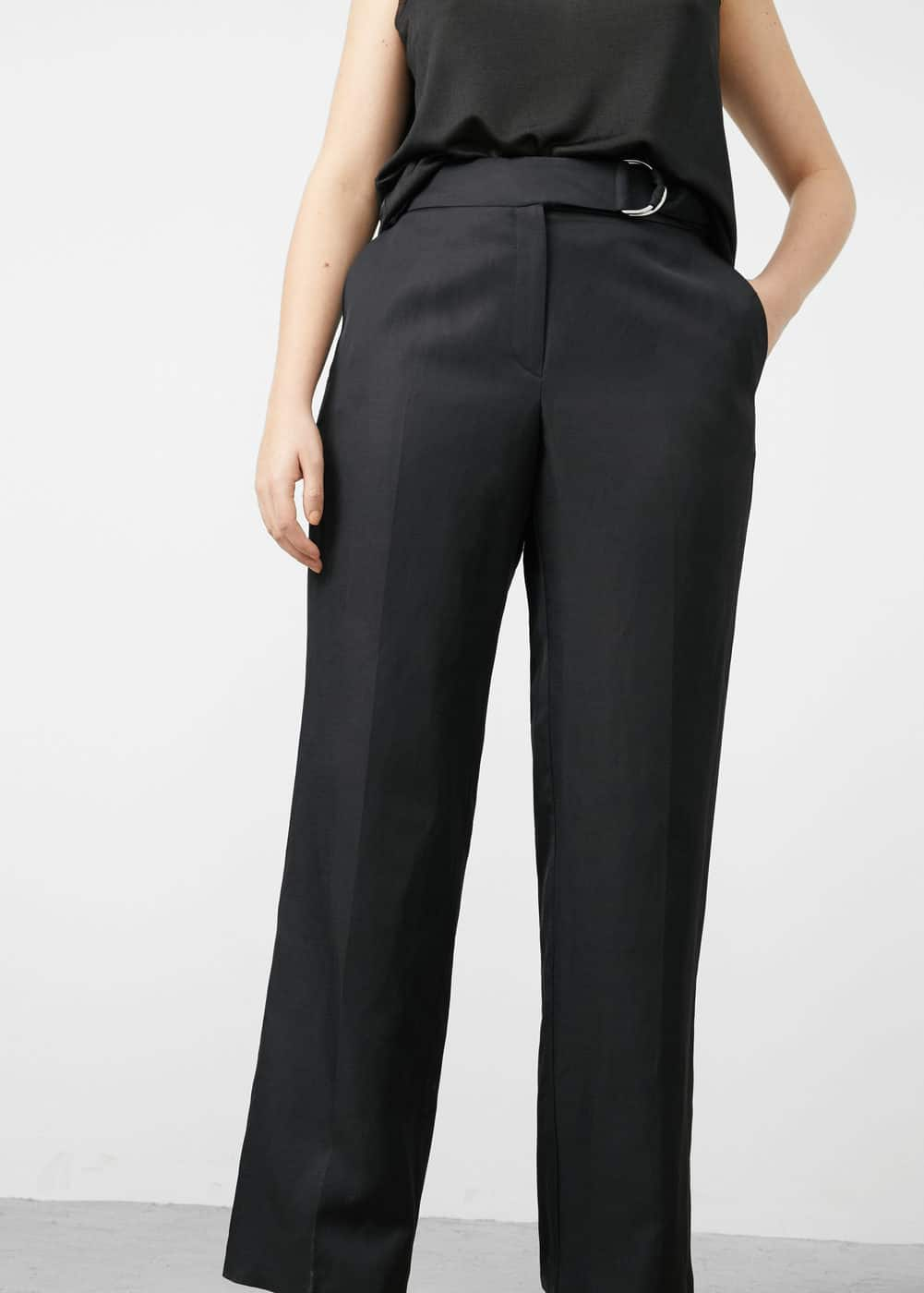 Belt line trousers | MANGO